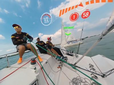 Motion 360 Virtual Reality Boat Simulator